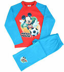 MM73 Boys Disney Mickey Mouse Football Pyjamas Sizes 12 months to 5 Years