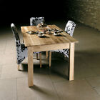 MOBEL OAK 1.5M DINING TABLE + 6 CHAIRS-MODERN SOLID OAK SET-RRP £999-IN STOCK