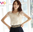 New fashion women girl lady T-shirt Embroidery beaded short Sleeve shirt S-XXXL
