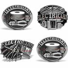 BBUM0211 ELECTRICIAN WIRE CLIPPERS TOOL KIT OCCUPATION ALLOY METAL BELT BUCKLE