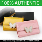 [OMNIA]Crystal Korean Ladies Genuine Leather Key Holder Wallet 379D Butterfly
