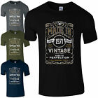Made in 1971 T-Shirt Born 47th Year Birthday Age Present Vintage Funny Mens Gift