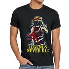 Legends Never Die Luffy Herren T-Shirt Ruffy One Monkey Anime Piece Zoro Samurai