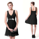 Ever Pretty Women's Sexy V-neck Short Chiffon Mini Cocktail Party Dress 03728