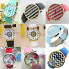 Watches Ladies Wrist Watch Women Vintage Analog Quartz Feather Dial Leather Band