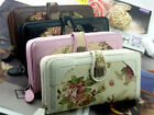 Worth Flower Retro Long Lady Purse Women Faux Leather Wallet Gift Bag Gift