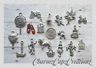 18 pc Wizard of Oz Inspired Silver Charm Set Lot Collection/Ruby Red Slippers/#2
