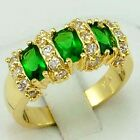 Jewelry Nice Woman's Wedding Ring 10KT Yellow Gold Filled emerald Size:7/8/9