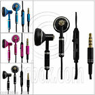3.5mm Metal In-Ear Mic Microphone Tangle Free Cable Headphone Earbuds Headset