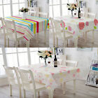 Durable PEVA Flower Stripe Rectangle Waterproof Tablecloth Cover Kitchen Picnic