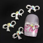 10pcs 3D Alloy AB Rhinestones Bow Tie Nail Art Phone Glitters Slices Decoration