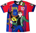Boys BEN 10 ALIEN FORCE vibrant red summer t-shirt S-XL Age 3-8 yrs Free Ship