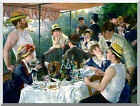 Stretched Luncheon of the Boating Party by Pierre Auguste Renoir Repro Art Print