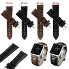 Leather Watch Band Strap +Classic Buckle+Tool for Apple Watch iwatch 38mm/42mm