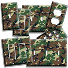 GREEN MILITARY ARMY CAMO CAMOUFLAGE LIGHT SWITCH OUTLET WALL PLATE COVER MANCAVE