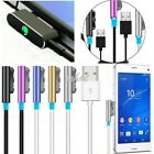 Magnetic Aluminum Metal LED USB Charger Cable For Sony Xperia Z1 Z2 Z3 Compact