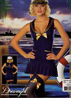 Halloween Dress Up Costume Sea Side Pin Up Sailor Navy Girl