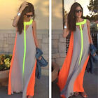 Maxi Dress Chiffon Beach Dresses S-XL Cocktail Party Evening Sleeveless Women's