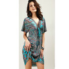 Sundress Summer Dress Colorful Large Size V Neck Boho Style Women Sexy