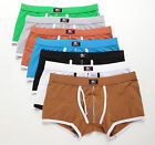 7 Colors Men's Support Bulge Pouch Briefs Cotton Underwear Boxer Briefs Lingerie
