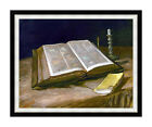 Still Life with Open Christian Bible by Vincent van Gogh Print Repro Canvas Art