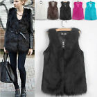 New Fashion Women Fluffy Supple Faux Fur Vest Warm Winter Jacket Outwear Coat