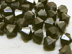 6mm 200/400/600/800/1000pcs BLACK FACETED ACRYLIC PLASTIC BICONE BEADS TY3001