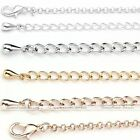 "2.6mm Silver/Gold Plated Long Curb Chain Link Necklace Fit Craft DIY 31.5-34""L"