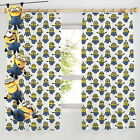 """Despicable Me Minions Pencil Pleat Curtains 54"""" or 72"""" Drop New Gift Bedding"""