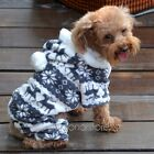 Fashion Warm Winter Hoodie Jumpsuit Coat Clothes Costume For Pet Dog Puppy 2016