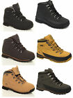 Mens Boys Leather Steel Toe Cap Safety GROUNDWORK Work Boots Brown Black Honey