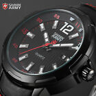 New Mens Shark Army Luminescent Hands Date Sport Military Leather Sport Watch