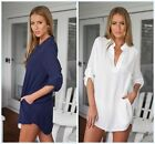 Sexy Women Loose Chiffon Button Tops Girl Long Sleeve T Shirt Lady Casual Blouse