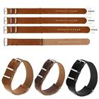 Black Brown Leather Watchband Strap Watch Wristwatch Band 18mm 20mm 22mm