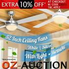"""52"""" (1300mm) Ceiling Fan with Light with Radio Frequency Remote Control"""