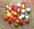 25/50 SINGLE STEM ARTIFICIAL PEARLIZED BERRIES#RED/GOLD/ORANGE# CRAFTS/FLOWER