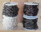 CABLE CHAIN 10mm x 20mm U-Pick Length+Color~ Silver / Antique / Black ~Lrg Links