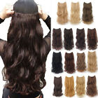 Fashion Long Straight Curly Clip In Hair Extensions 5Clips One Piece Brown MJ4