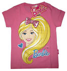 Girls BARBIE short sleeve cotton summer t-shirt Size S-XL Age 2-5 yrs Free Ship