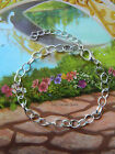 CHARM BRACELET BLANK FOR CLIP-ON CHARMS OVAL LINKS FINDING SILVER BASE