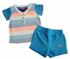 Puma Basic Boys Set Baby Toddler Top Short Childrens Blue (827934 01 U18)