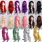 Womens Ladies Long Hair Wig Curly Wavy Synthetic Anime Cosplay Party Full Wigs