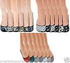 Wholesale 6 12 24 Pairs Women's Hidden Foot Liner Socks Polka Dots Animal Cotton
