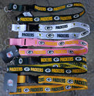 NFL Green Bay Packers Lanyard Wristlet Keychain Official licensed (Choose Color)