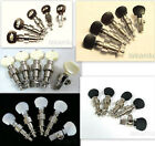 5 string banjo machine heads, Nickel plated, ebony, acrylic, inlaid button,328N