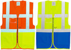 Executive Hi Vis Visibility Two Tone Safety Vest | Waistcoat | Work Wear