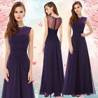 Ever Pretty Eegant Sleeveless Maxi Purple Evening Prom Formal Dress 08589
