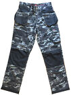 Mens Lee Cooper Camouflage Cargo Knee Pad Holster Multi Pocket Trouser  30-42