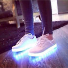 New Mens womens LED Light Shoes lace Up Casual Sportswear Luminous Sneaker Shoes