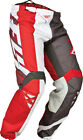 Fly Racing 2015 Kinetic Division MX ATV BMX Pants Red/Grey/White 28-40